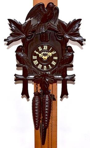 手塚時計 木製鳩時計 POPPO オルゴール付 昭和40年頃【W225】
