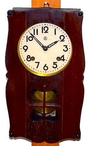 愛知時計 鋲打変形柱時計 昭和30年頃【W188】