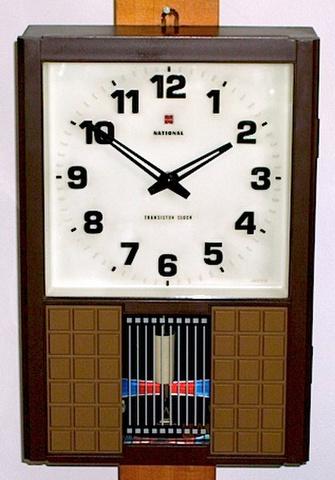ナショナル トランジスタ柱時計 箱付 昭和40年代後半【W073】