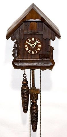 Engstler(ドイツ) 木製小型鳩時計 1970年代以降【W262】