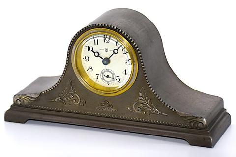 東京時計 アンチモニ枠置時計 昭和初期頃【102】