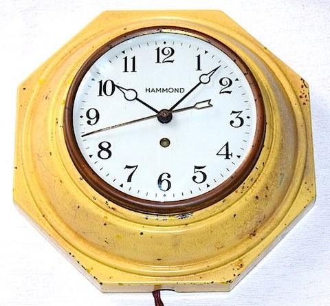 HAMMOND CLOCK(アメリカ) オクタゴンウォールクロック 1928~37年【W163】