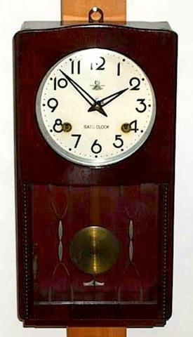 佐藤時計 14日巻柱時計 昭和20年代後半【W067】