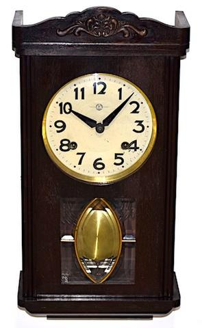 三工舎 宮型柱時計 昭和初期頃【W242】