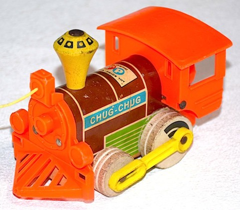 FISHER-PRICE TOYS MAGNETIC CHUG-CHUG TRAIN 1964年【S042】