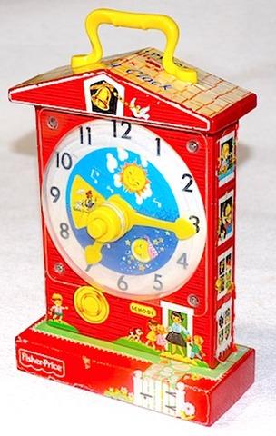 FISHER-PRICE TOYS Music Box Teaching Clock 1968年【S036】