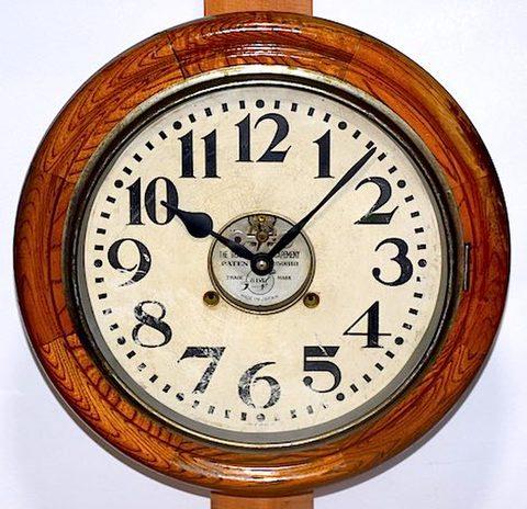 ラーヂ時計 天賦式 8日巻丸型グレシャム 昭和初期頃【W143】