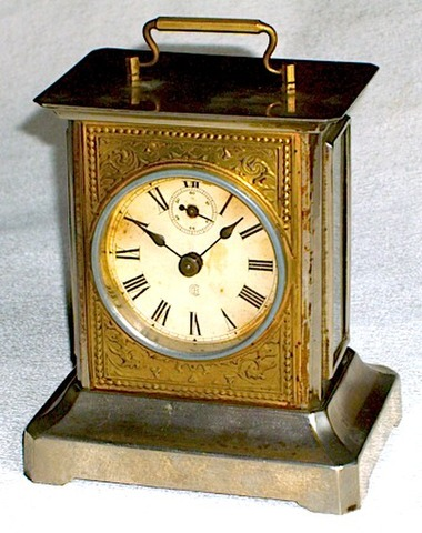 BADISCHE UHRENFABRIK(ドイツ)角形時打置時計 1890〜1900年代前半【K011】