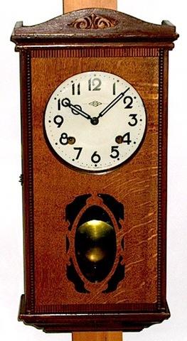 武田時計製造所 中型柱時計 昭和10年代〜20年代【W044】