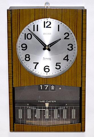 SEIKO SONOLA(トランジスタ柱時計)カレンダー付 昭和40年代前半【W234】