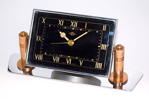 HRZ(スイス) 台座付目覚時計 1950〜60年代頃【049】