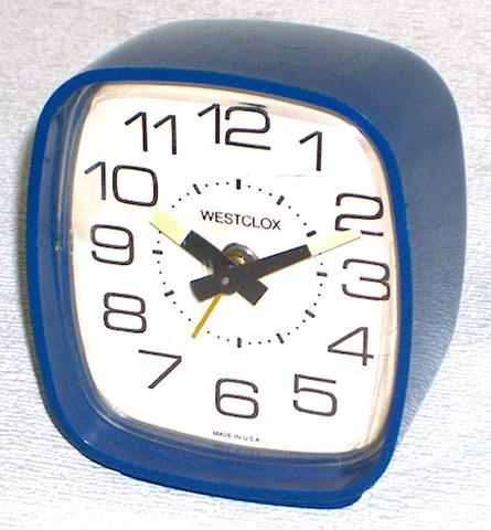 WESTCLOX(アメリカ) スクエアタイプ(ブルー) 1960〜70年代【119】
