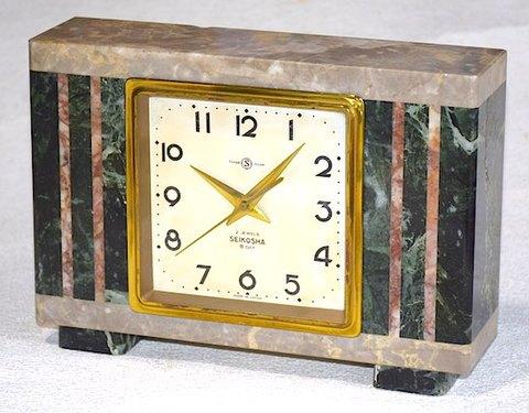 精工舎 大理石枠8日巻置時計 昭和30年代前半