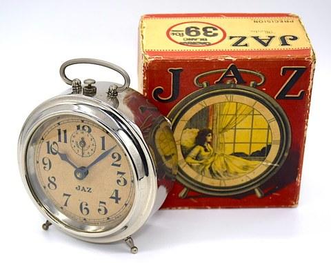 JAZ(フランス) 丸型目覚時計『MODIC』 箱付 1930年頃【117】