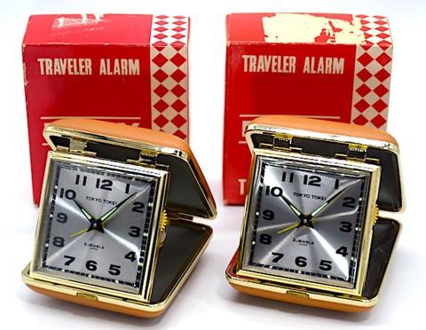 東京時計 トラベルクロック『トラベラエリー』箱・説明書付 昭和40年頃【020】