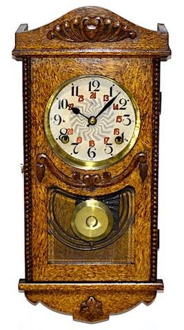 舘本時計製造所 宮型柱時計 昭和初期頃【W236】