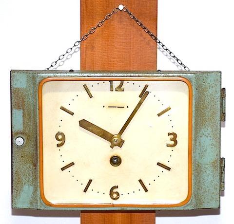 精工舎 スチール枠角形掛時計 昭和40年【W191】
