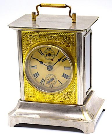 高野時計製造所 角形目覚(枕時計) 大正時代【K022】