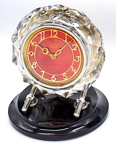 SERDOBSK CLOCK FACTORY(ソ連) ガラス枠置時計 Majak 1970年頃【041】