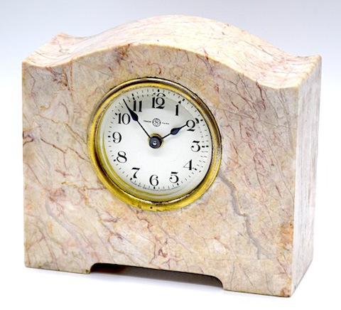 精工舎 石枠置時計『白石ビー朝日』 昭和初頭【073】