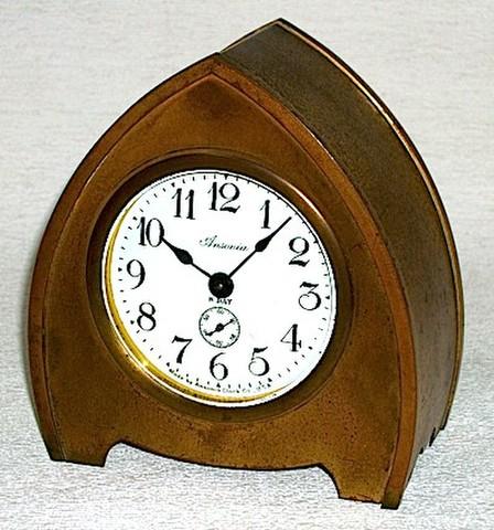 ANSONIA(アメリカ) 砲弾型置時計 8日巻 1900年代初頭【086】