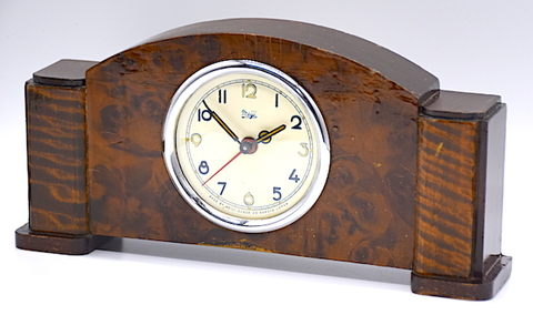 明治時計 木製小型目覚時計 昭和28年【115】