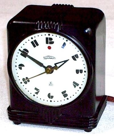 東京電気時計 Synchron(シンクロン)置時計 昭和10年頃【E044】