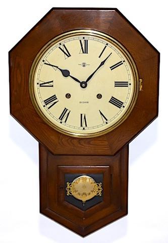 津田時計製造所 八角尾長柱時計 昭和30年頃【W237】
