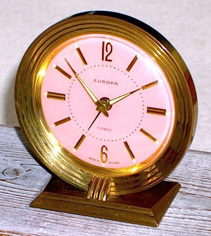 EUROPA(ドイツ)小型目覚時計 1950年代【055】