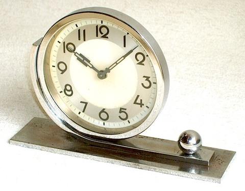 東洋時計 メッキ装飾置時計 昭和10年代【006】