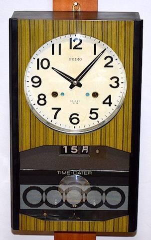 SEIKO 30DAY柱時計 TIME-DATER(日付・曜日表示) 昭和40年代【W169】