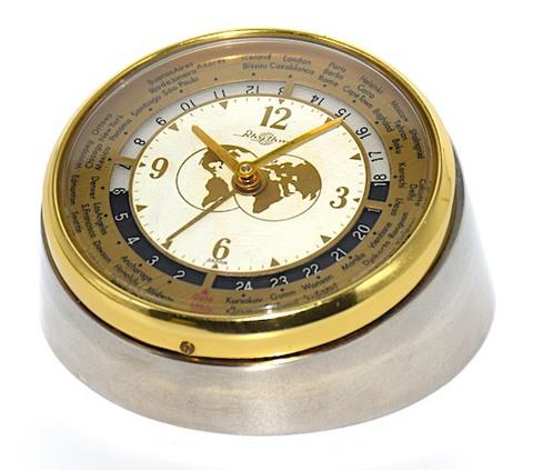 リズム時計 小型世界時計 昭和30年代【017】