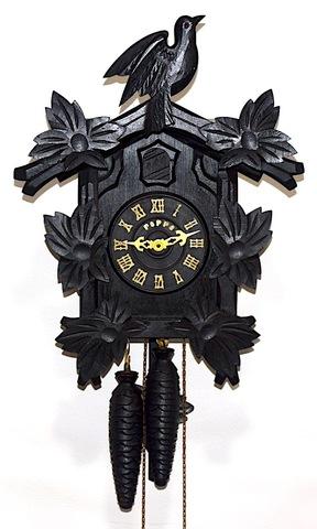 手塚時計 木製鳩時計 POPPO 昭和30年代後半頃【W282】
