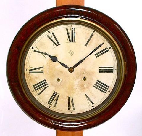 ANSONIA(アメリカ) 12インチ丸型グレシャム 1880年代【W090】