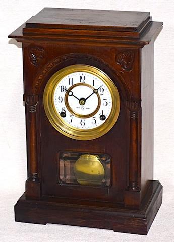 精工舎 内雁木八日巻木製置時計 大正10年