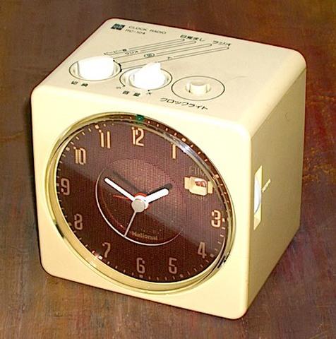 ナショナル クロックラジオRC-104 昭和50年代【E017】