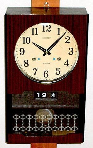SEIKO 30DAY柱時計 日付・曜日表示 昭和40年代【W094】