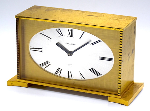 ORAZAL(スイス) トランジスタ置時計 1960年代頃【E061】
