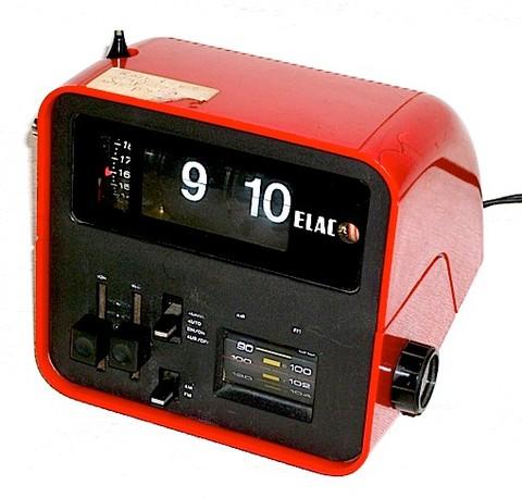 ELAC(ドイツ)時計付AM/FMラジオ RD100 1970年代【S009】