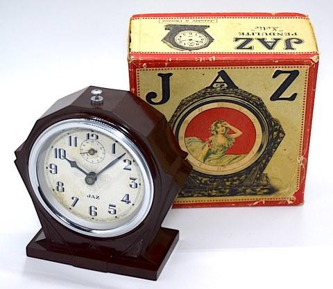 JAZ(フランス) 樹脂製目覚時計『LOTIC』 箱付 1930年代【118】