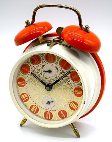 PRIM(チェコスロバキア) ツインベルタイプ(オレンジ/ホワイト) 1960〜70年代【023】