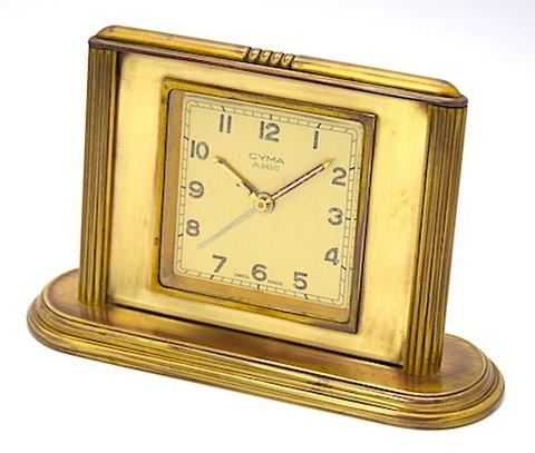 CYMA(スイス) 小型台座付目覚時計 AMIC 1950年代【089】