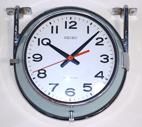 SEIKO バス時計(トランジスタクロック)ステー付 昭和40年代前半【W185】