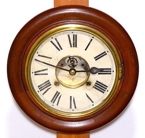 赤菱時計 天賦式10吋丸型グレシャム 大正時代頃【W207】