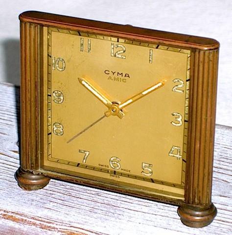 CYMA(スイス) 小型目覚時計 AMIC 1950年代【007】