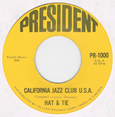 HAT & TIE / CALIFORNIA JAZZ CLUB U.S.A.