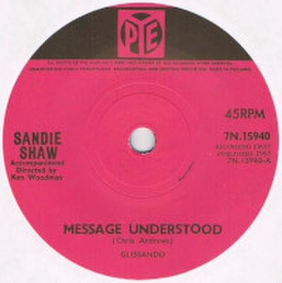SANDIE SHAW / MESSAGE UNDERSTOOD
