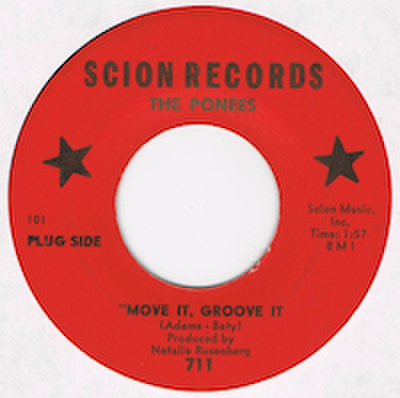 THE PONEES / MOVE IT, GROOVE IT