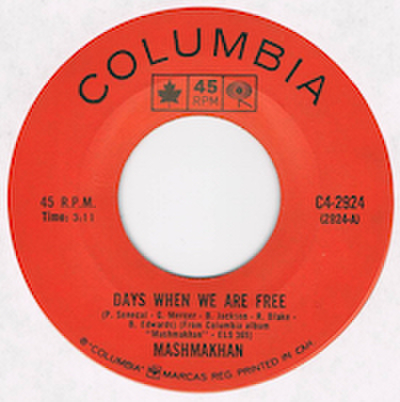MASHMAKHAN / DAYS WHEN WE ARE FREE