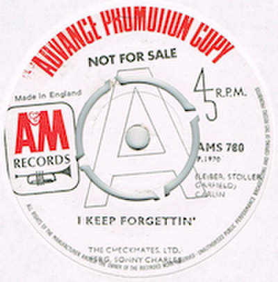 CHECKMATES, LTD. FTRG. SONNY CHARLES / I KEEP FORGETTIN'